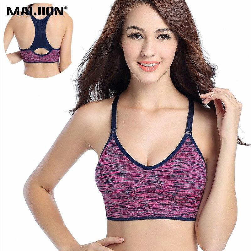 MAIJION Women Sport Yoga Shirt Breathable Sports Bras