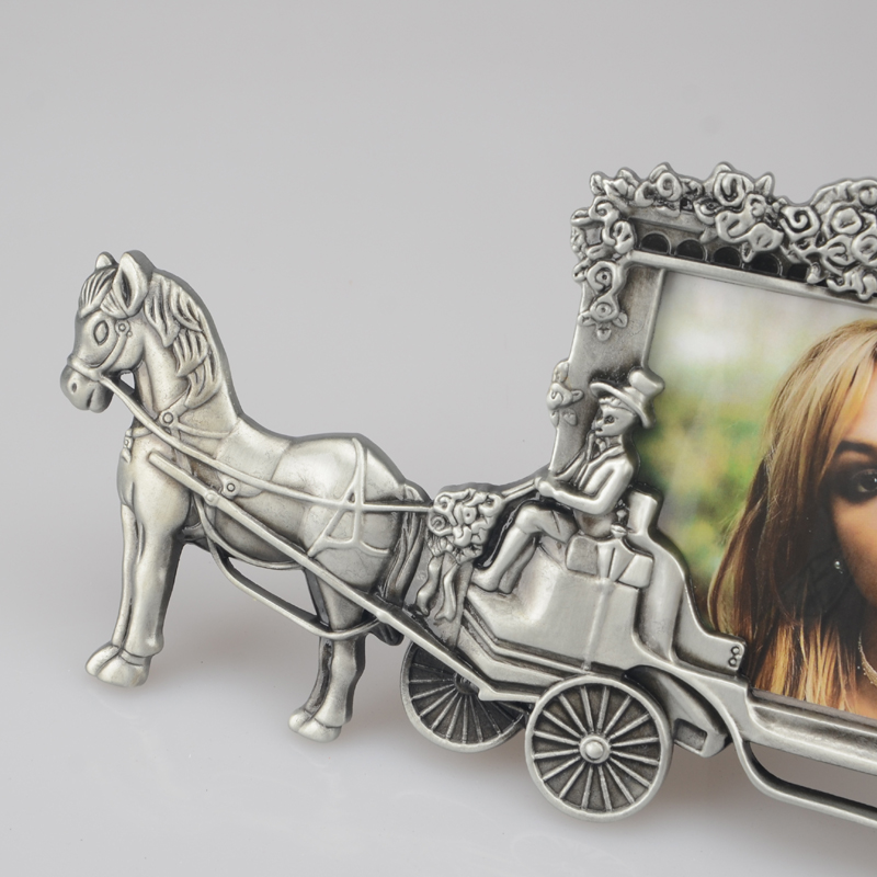 TPRPLH Mini Photo Frames Vintage Picture Frames White Horse Carriage ...