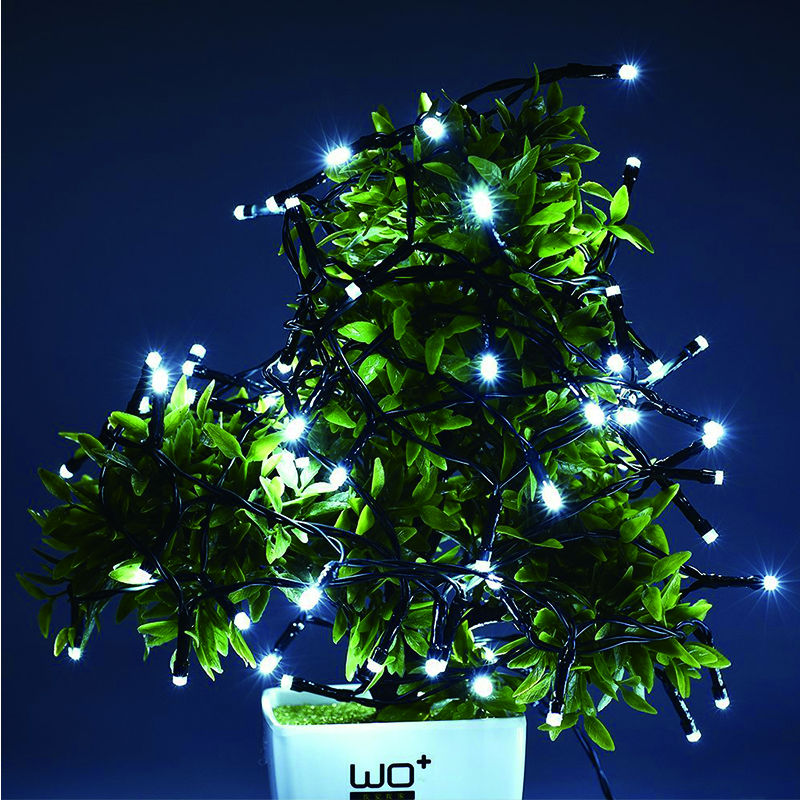 Solar led string lights cold white