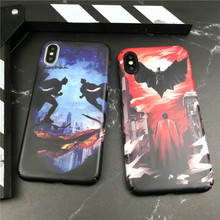 Marvel Comics Batman hard Cover Case For Iphone X Xs Max Xr 10 8 7 Plus 6s 6plus Luxury Plastic Cartoon Lovers suit Coque Funda