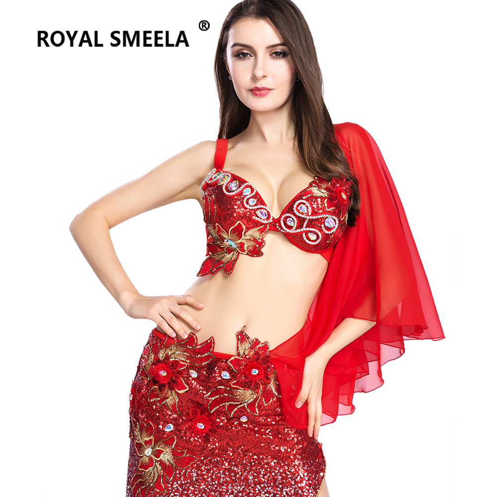 Hot Sale Free Shipping 2019 New design top grade belly dance set costume belly dancing clothes