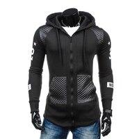 New Autumn Black Men Hooded Jackets Fashion Casual Men S Stitching Coats Hot Selling Slim Comfort