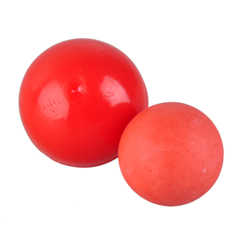 Hot Red Rubber Pet Toy Solid Natural Elastic Ball Dog Toys Bite Resistant Animal Pets Training Supplies For Teddy Pitbull