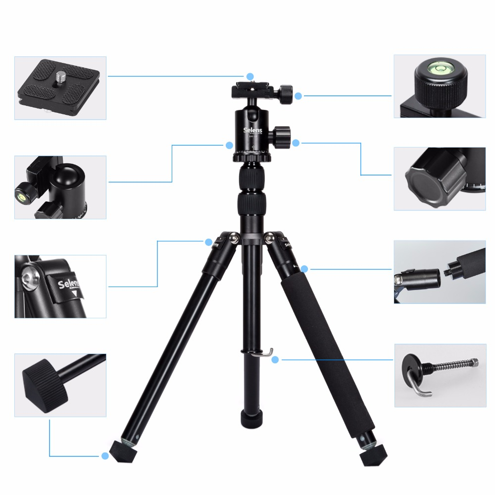 Portable Professional Photographic Aluminum Travel Table Monopod Camera Tripod For Cellphone Smartphone Canon Sony Nikon Compact