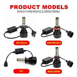 Image 5 - 2Pcs 5 ด้าน 14000LM H7 ไฟหน้ารถLEDไม่มีข้อผิดพลาดH11 Led Canbusไฟหน้าหลอดไฟH4 H8 H9 9005 9006 100Wไฟตัดหมอกอัตโนมัติ 12V 24V