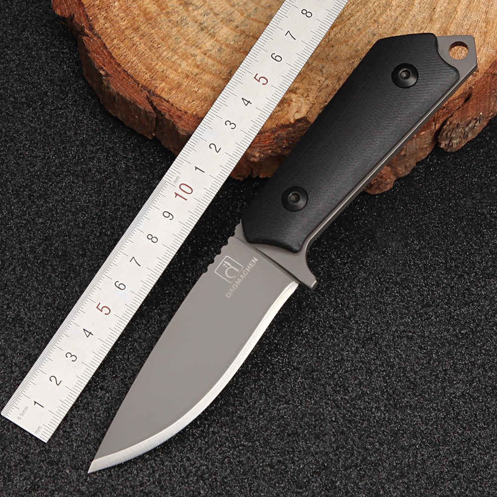 Купить с кэшбэком DAOMACHEN High Carbon Steel Outdoor Tactical Knife Survival Camping Tools Collection Hunting Knives With Imported K sheath