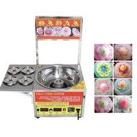 Auto Commercial Electric Flower Cotton Candy Making Machine Cheap Desktop Durable Sus Fairy Floss Cotton Candy Maker For Sale