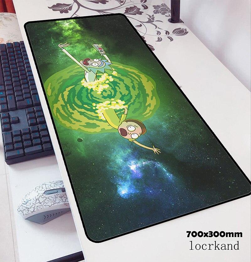 Tapete de mesa de escritório adorável tapete de mesa hd padrão padmouse jogos de computador tapetes de gamer rick e morty mouse 70x30cm mousepad anime