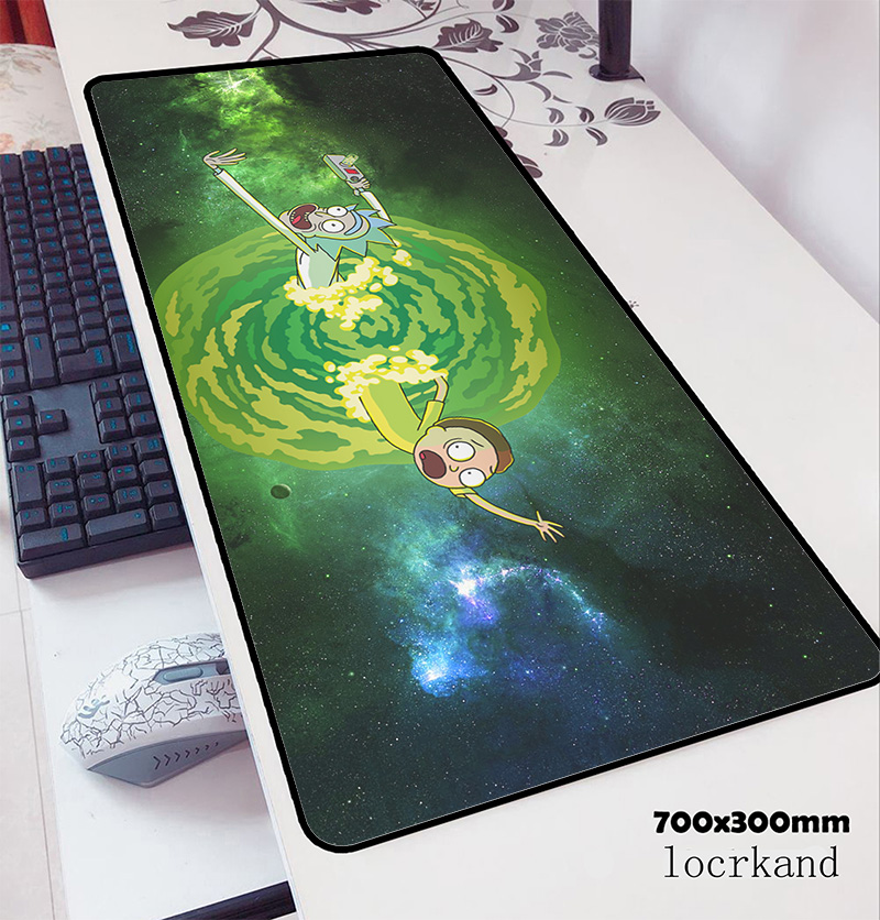 Rick And Morty Mouse Pad 70x30cm Gaming Mousepad Anime Adorable Office Notbook Desk Mat HD Pattern Padmouse Games Pc Gamer Mats