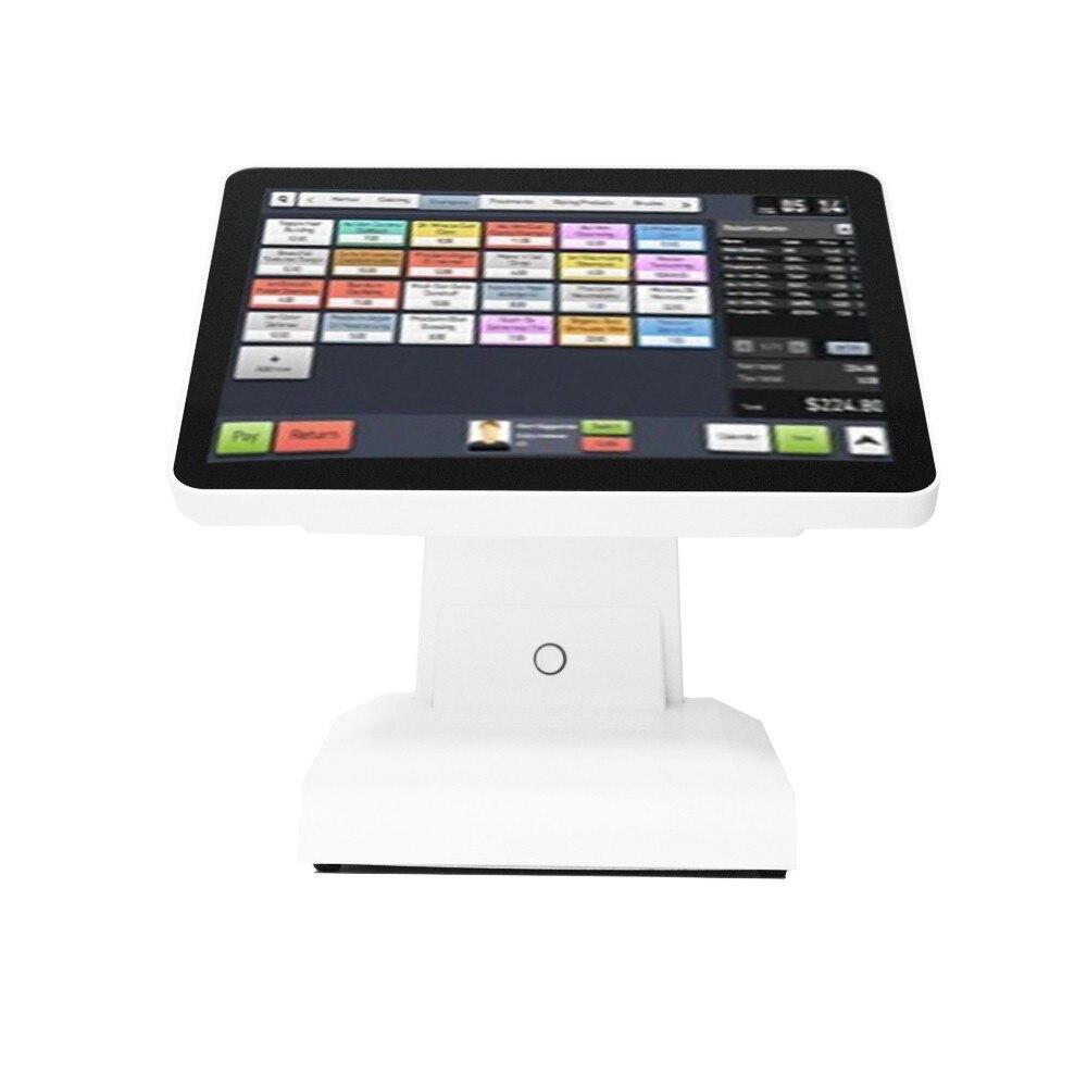 Blanc 15 pouces 5 fils TFT LCD Point de vente au détail tout en un écran tactile à écran plat