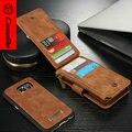 CaseMe Натуральная Кожа Case для Samsung Galaxy S7 Новый Многофункциональный Стенд Бумажник Обложка Высокое Качество для galaxy s7