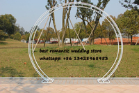 Round Arch White Metal Arch Centerpiece for Wedding Decorations Party Event Decoration 2.3m Tall*2.6m Wide