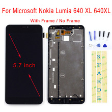 STARDE Replacement LCD For Microsoft Nokia Lumia 640 XL 640XL LCD Display Touch Screen Digitizer Assembly Frame 5.7