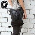 PU bolsa de cuero de Steampunk Funda Monedero carteras mujer bolsa muslo Motor pierna Outlaw Paquete de Bolsillo bolso de las mujeres