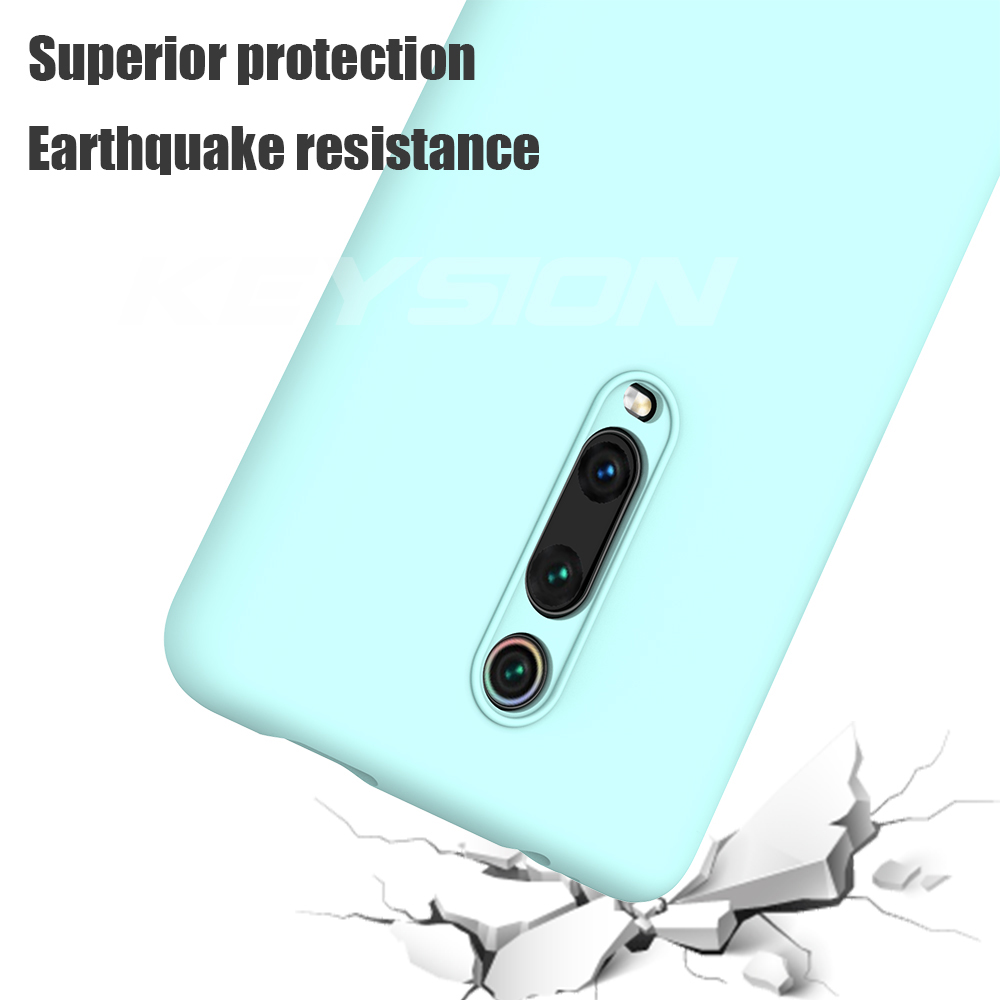 Image 4 - KEYSION Liquid Silicone Case for Xiaomi Mi 9T Pro Redmi K20 Pro Soft TPU Shockproof Coque Phone Cover For Xiaomi Mi 9T Mi 9 9 SE-in Fitted Cases from Cellphones & Telecommunications