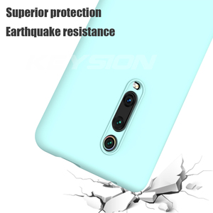 Image 4 - KEYSION Liquid Silicone Case for Xiaomi Mi 9T Pro Redmi K20 Pro Soft TPU Shockproof Coque Phone Cover For Xiaomi Mi 9T Mi 9 9 SE