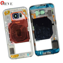 50pcs/lot 3 colors  Middle Frame Bracket Bezel Housing Cover For Samsung Galaxy S6 SM-G920 G920F