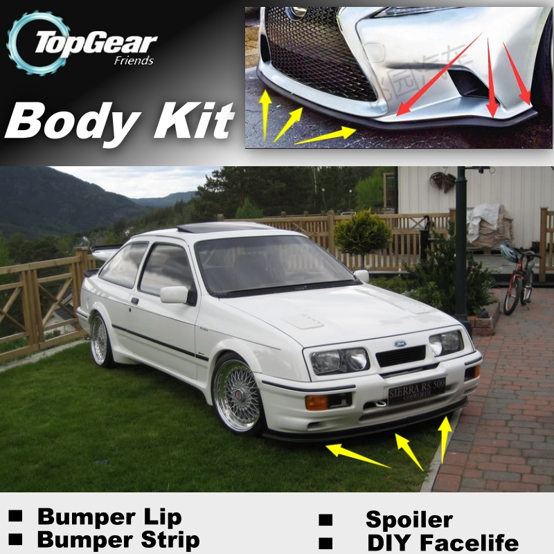 Bumper Lip Deflector Lips For Ford Sierra RS Cosworth Front Spoiler Skirt For TopGear Fans Car View Tuning / Body Kit / Strip car window curtains legal