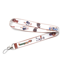 DMLSKY Brickleberry Lanyard Keychain for keys Badge ID Mobile Phone Key rings Women Neck Straps Accessories M3397