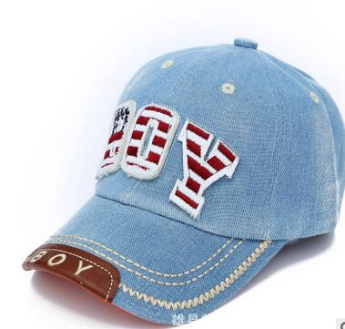 1pcs/lot free shipping baby Kids Baseball Cap snapback Hats Boys Girls sun Hat children denim baseball cap 51-55cm