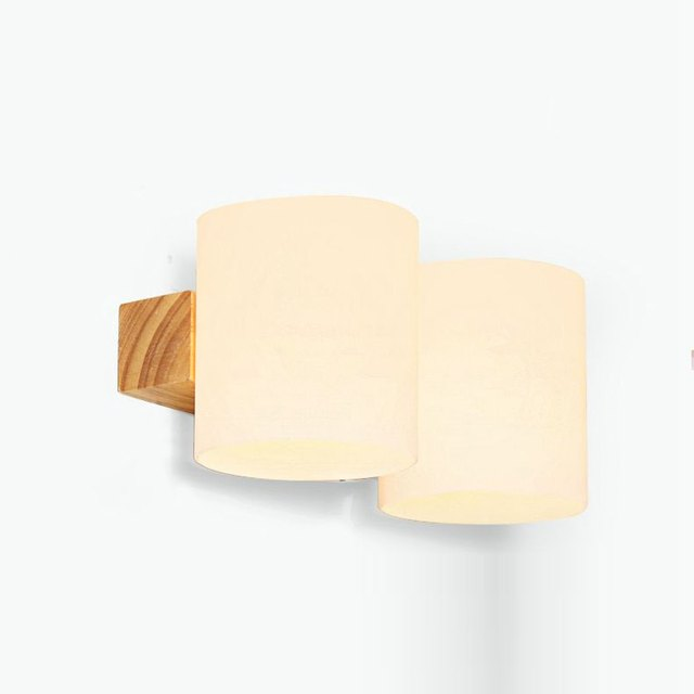 Moderne En Bois Verre Cylindre Chambre Lits Mur Lampe Salle De Bain Miroir  Avant Couloir Balcon