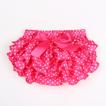 Baby Girl Bloomers Toddler Ruffles Bloomers Satin Panties  Baby Bloomer Clothing Baby Girl Diaper Cover Bow Shorts 11 Colors 1