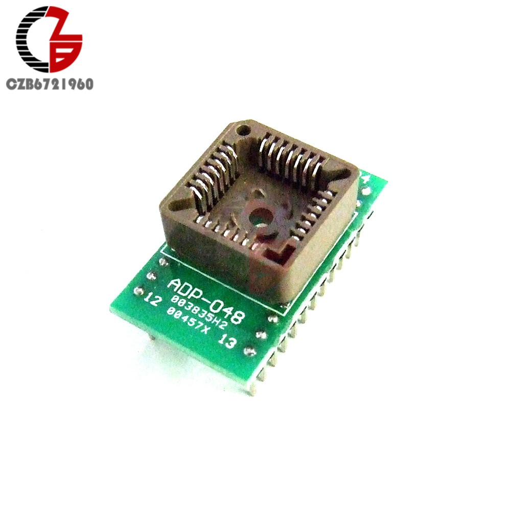 PLCC28 to DIP24 EZ Programmer Adapter Socket IC Test Socket Universal Converter sop8 soic8 so8 to dip8 ez programer socket pitch 1 27mm ic body width 3 9mm 150mil ic test adapter ez ch341a ch341