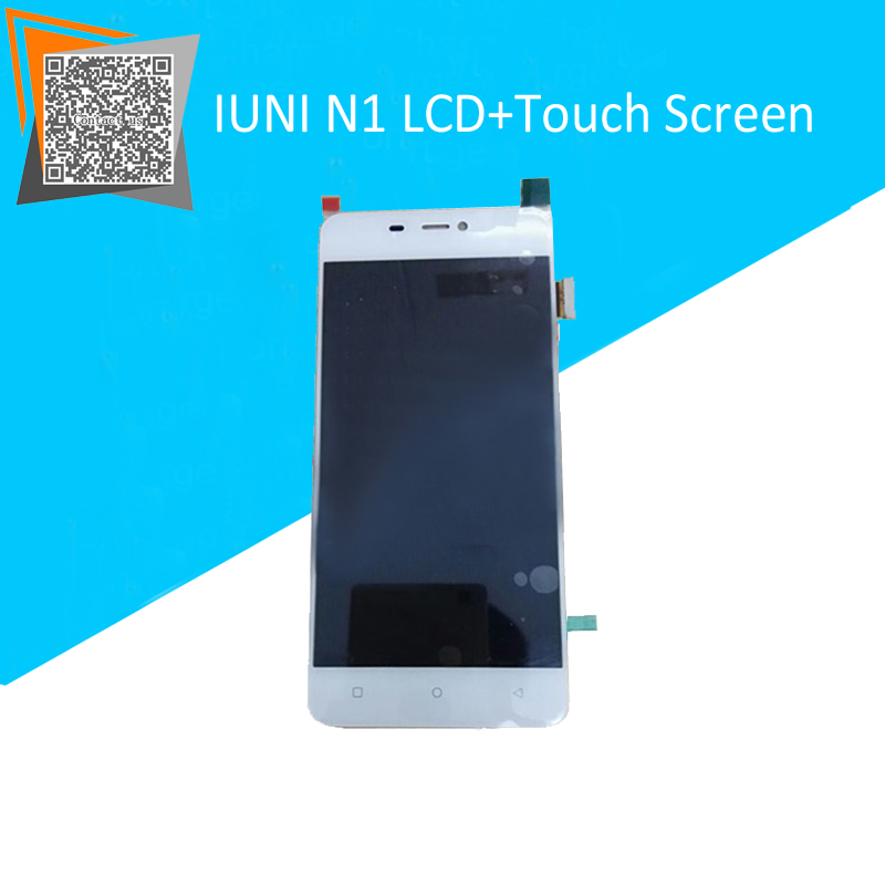 White For 5 IUNI N1 LCD Display with Touch Screen Full Assembly Replacement Parts Free Tracking