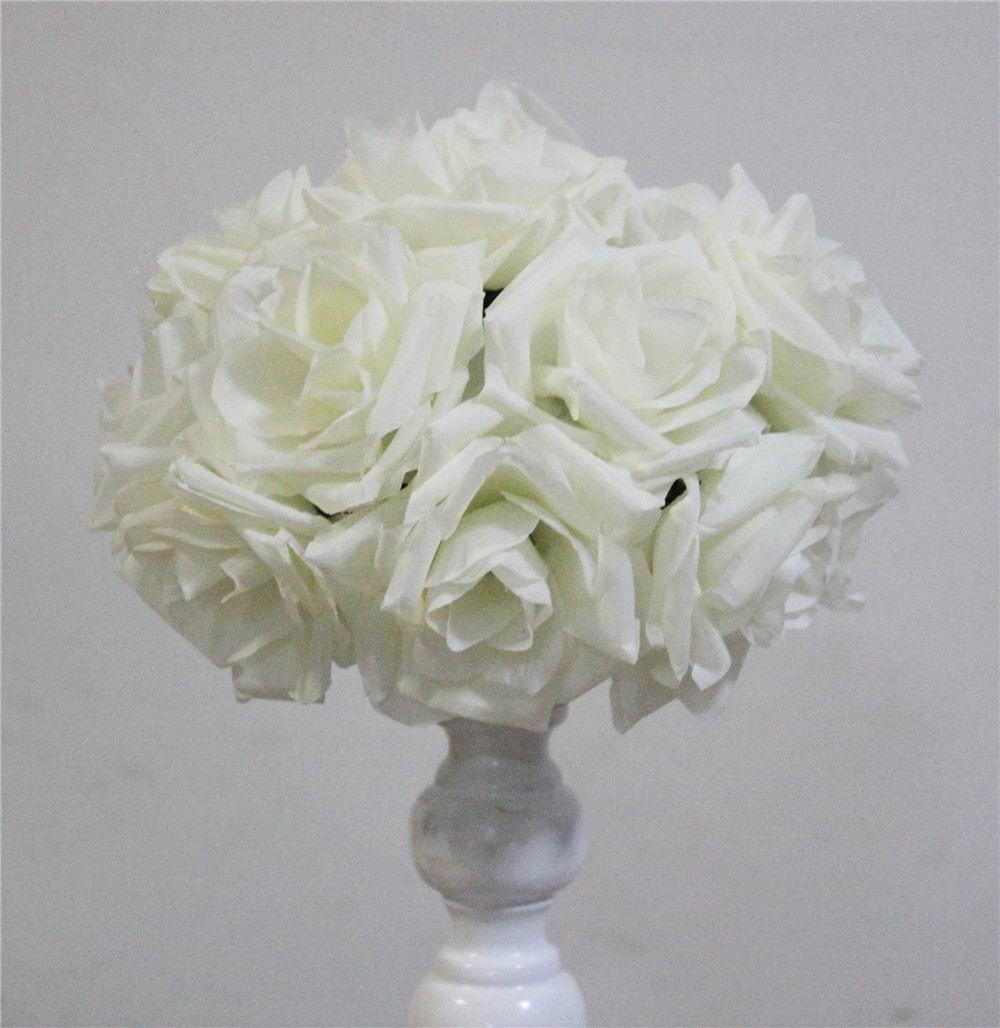 SPR 15 cm ivoor Elegante Kunstzijde Krimpen Rose Bloem Bal Opknoping - Feestversiering en feestartikelen - Foto 2