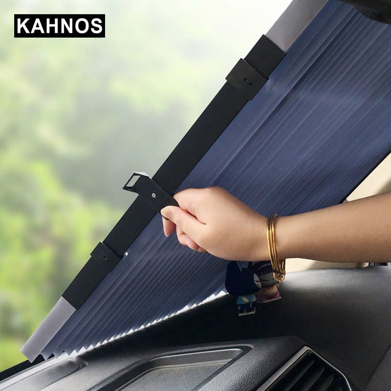 Car Retractable Curtain With Uv Protection Sunshade Car Window Sunshade Upgarde Retracta'ble SUV Truck Car Front Windshield