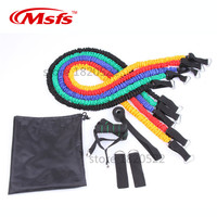 Latex Resistance Bands 11pcs/Set Gym Crossfit Fitness Equipments Pull Rope Workout Yoga Pilates Rubber Resistance Rope Exercises