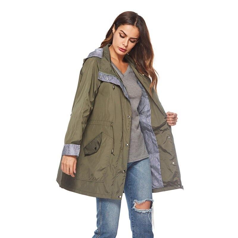 Womens Lightweight Hooded Active Outdoor Rain Raincoats Windproof Lightweight Rain Outwear   Trench   Coats