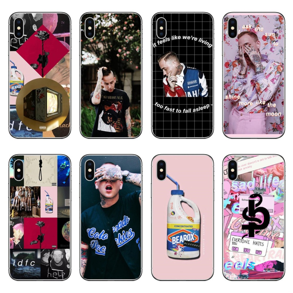 finest selection 75623 d23be Blackbear Hand held rose Hard PC Coque Phone Cases Cover for iphone 5 5S SE  6 6S Plus 7 XS Max XR 8 8 Plus X 10