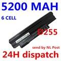 5200 mah 6 celdas de batería portátil para acer aspire one 522 d255 722 aod255 aod260 d260 d255e d257 d270 al10a31 al10b31 al10g31