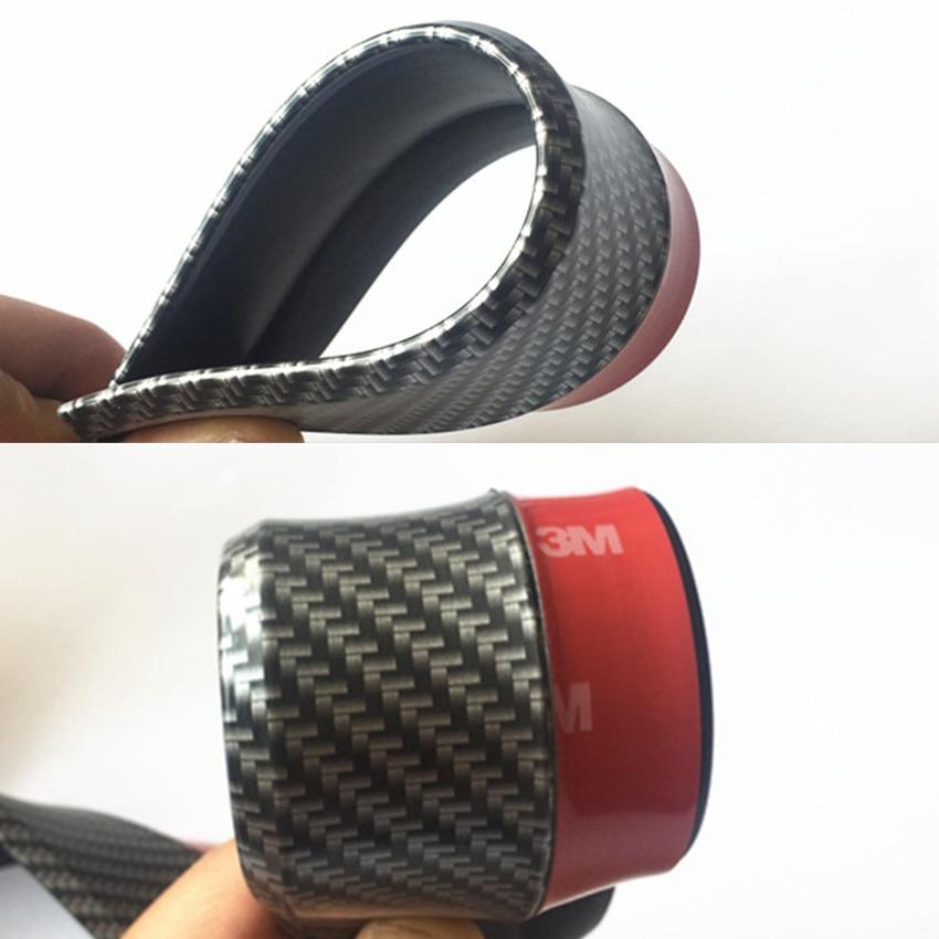 Автомобиля протектор переднего бампера углеродного волокна резину для Ауди А6 С5 Пассат В6 Фольксваген поло Пассат Б5 БМВ Е39 Е46 Е90 аксессуары