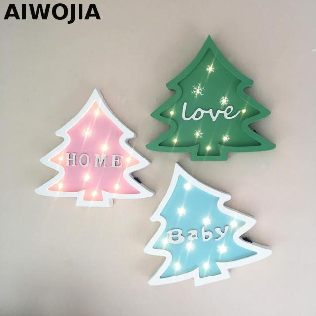 Christmas Tree Light Novelty Kids Lamp Illumione A Batterie Room Led Night Bank Table