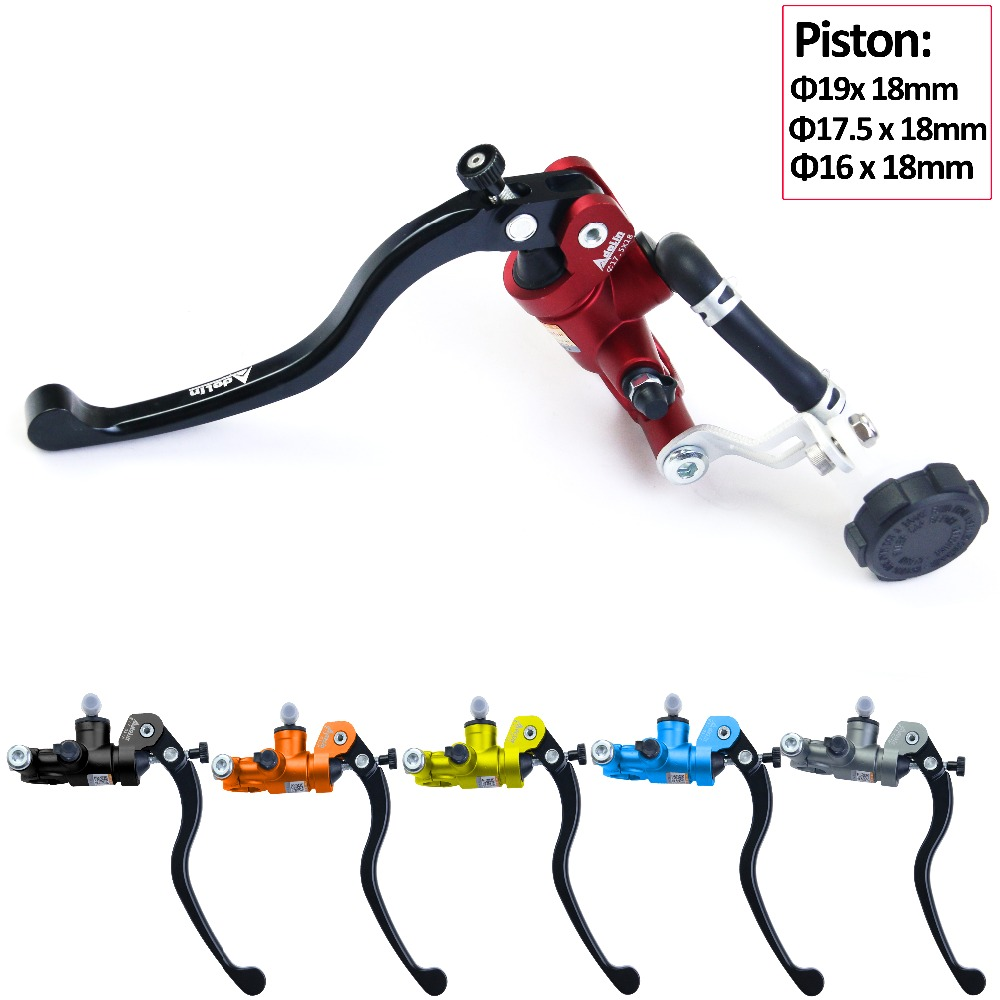 Adelin moto frein maître-cylindre levier d'embrayage hydraulique montage Radial Piston 19 17.5 16 vélo de rue pour Honda CBR Kawasaki