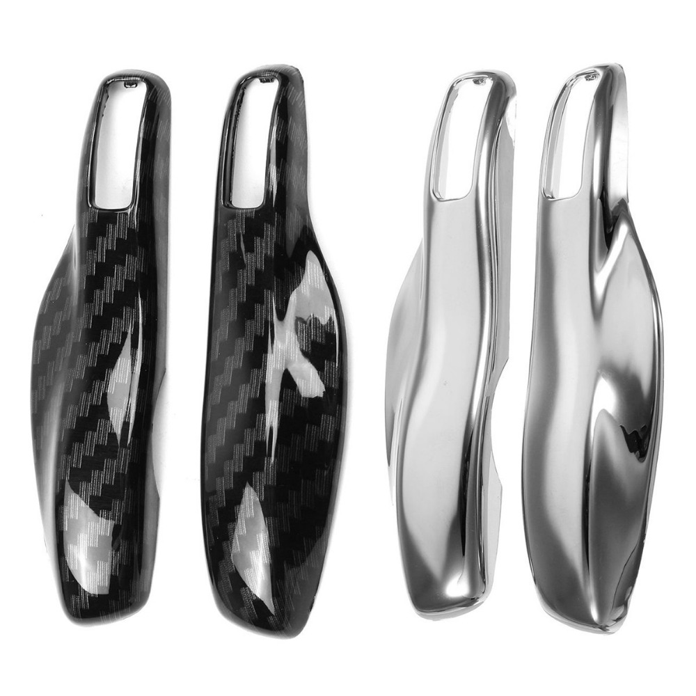 A Pair Car Key Case Cover Shell Carbon Fiber Chrome Color For Porsche Cayenne Macan 911 Boxster Cayman Panamera