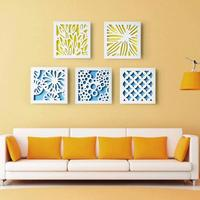 Modern Decorative Painting Wood Painting 3D wooden stickers Hollow wall ornaments wall hanging Living Room Store Ornament