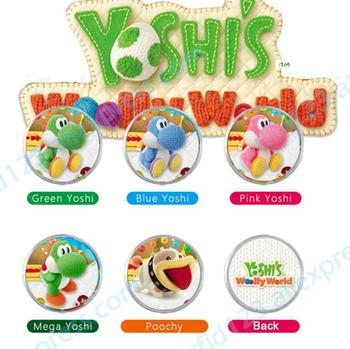5PCS Yoshi Wolly World Amiibo Coin Tag Can Work For Switch Latest Data