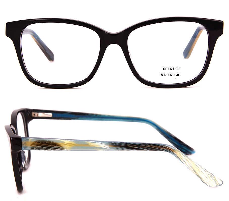 Moda męska Acetate oprawki optyczne czarne kwadratowe małe