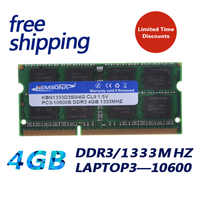 KEMBONA 204pin Brand New Sealed DDR3 1333 / PC3 10600 4GB Laptop RAM compatible with all motherboard 16chips/ Free Shipping!!!