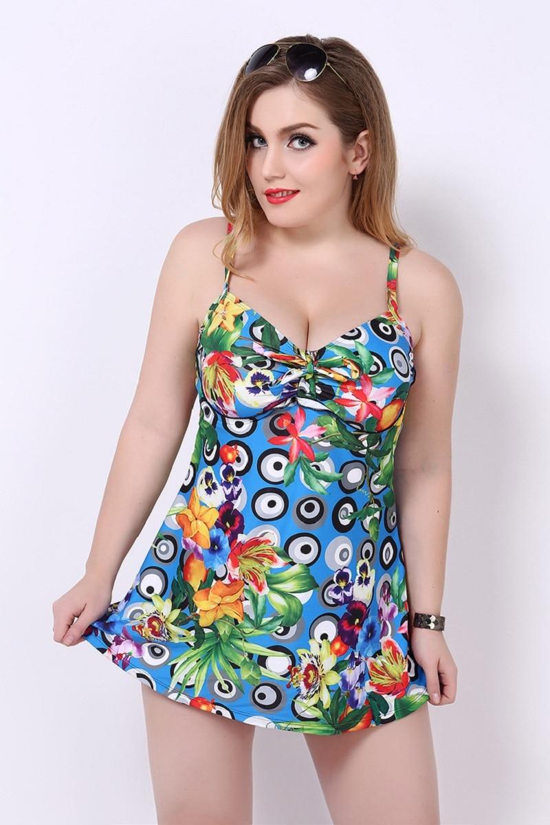 2017 Bikinis mujer verano tallas grandes Summer New Large Size Bikini Swimsuit Skirt-piece Beach Swimsuit