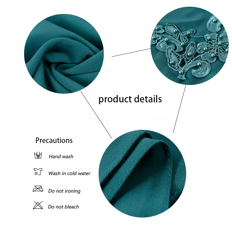 2019 New Bubble Chiffon Hijab Women Solid Color Head Scarf Floral With Beads Muslim Shawl Long Foulard Scarves & Wraps 20 Colors