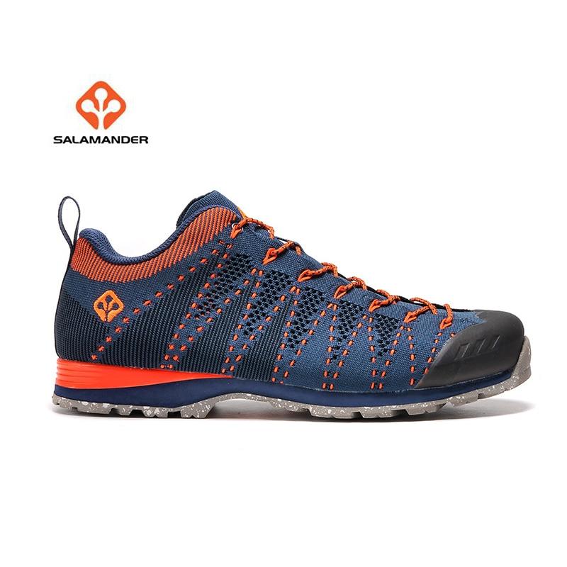 SALAMANDER Men's Outdoor Hiking Trekking Shoes Sneakers For Men Mesh Sport Climbing Mountain Trail Shoes Man Sneaker large size 38 44 men outdoor moutain sport climbing sneakers 2017 men lace up mesh breathable hiking shoes
