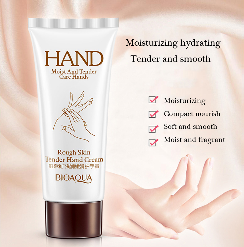 BIOAQUA Brand Rough Skin Tender Hand Cream Anti Chapping Moisturizing Hand Lotion Perfumed Soft Firming Skin Care for Winter 60g 1