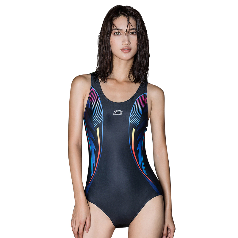 Phinikiss Professional Sports Swimwear Women One Piece Racerback Swimsuit Monokini High Quality Brand Slim Bathing Suit 10084