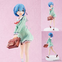 Re:Life In A Different World From Zero Action Figure Anime Model Rem School Uniform Ver.dolls Decoration Figurine Toys 23cm(China)