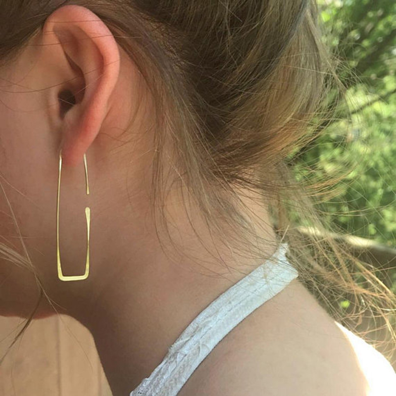 Big Gold Hoop Earrings 14 Gold Filled Vintage Jewelry Customize Boho Orecchini Brincos Oorbellen Pendientes Earrings for Women pair of gold plated polished big hoop earrings