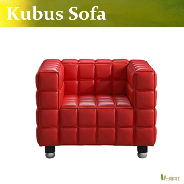 U-BEST the Josef Hoffmann Kubus sofa ,designer real leather armchair,Apartment-Haus Club sofa ,many color avaliable nick sharratt caveman dave